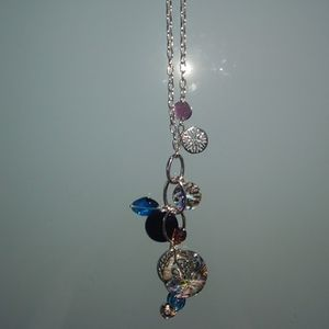 Lia sophia abalone shell and silver necklace git